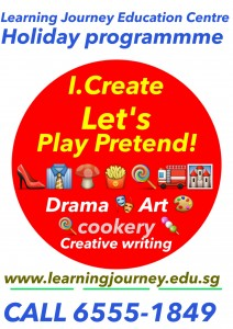 kids holiday programme icreate lets play pretend Drama art creative writing singapore