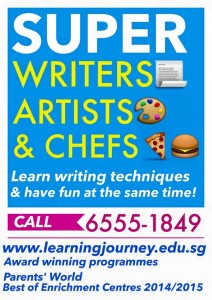 super writers artists chefs creative writing tuition singapore