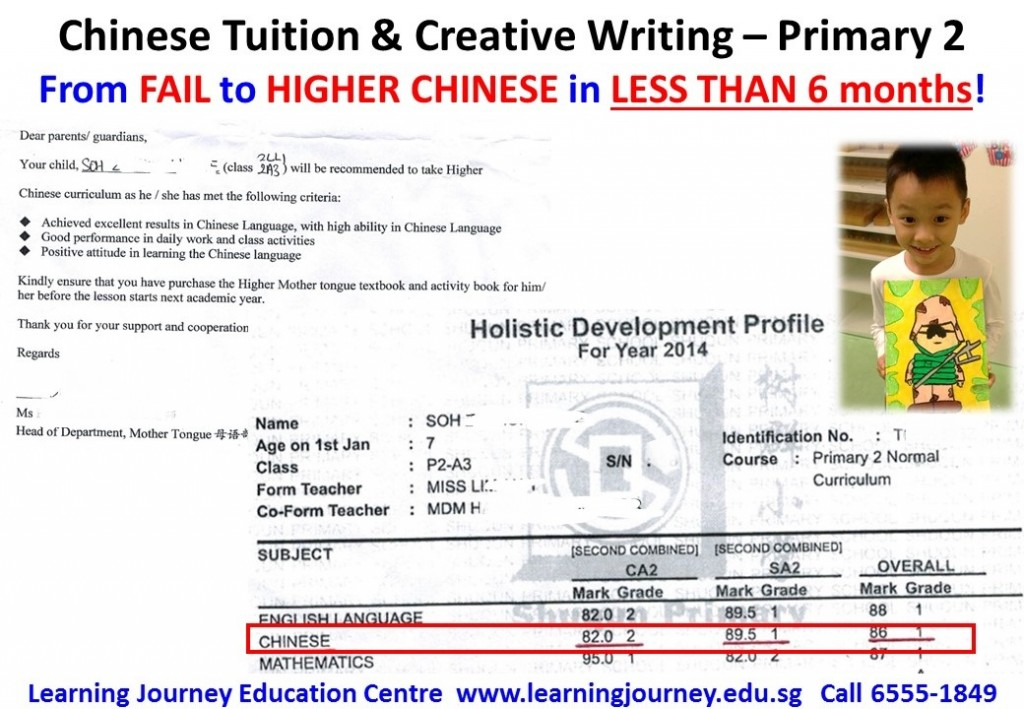 Effective primary chinese tuition singapore