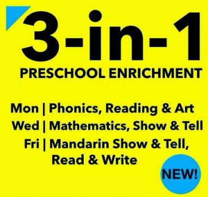 3 in 1 enrichment phonics reading speech drama chinese preschool singapore